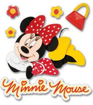 Disney 3-D Stickers-Minnie