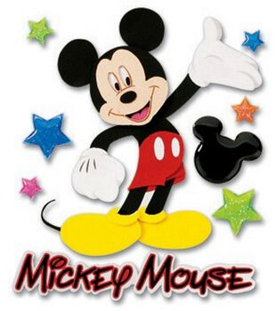 Disney 3-D Stickers-Mickey Walking