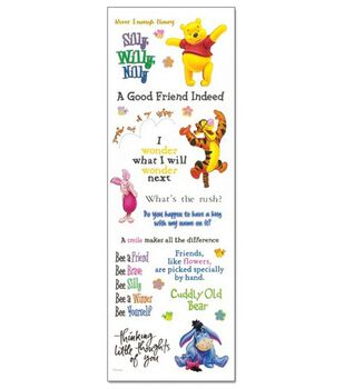 Disney Phrase Stickers-Pooh