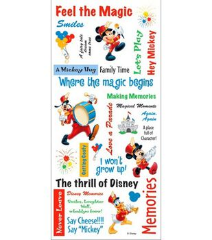 Disney Stickers/Borders-Mickey Phrase Sheet