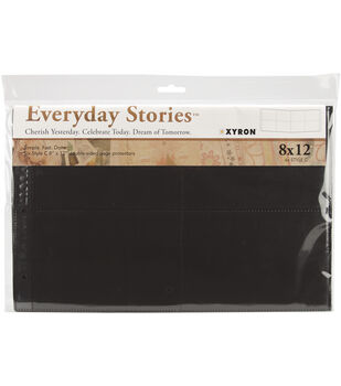 """Everyday Stories Page Protectors 8""""X12"""" 6Pk-Style C-4""""X6"""" Photo Layout"""
