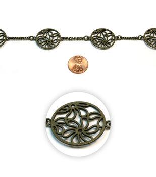 Floral Vignette Metal Chain