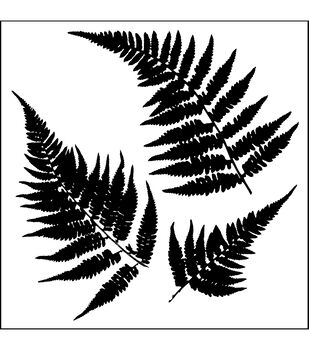 "Crafter's Workshop Templates 6""X6""-Mini Ferns"