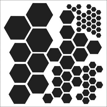 Crafter's Workshop Templates Hexagons 12'' x 12''
