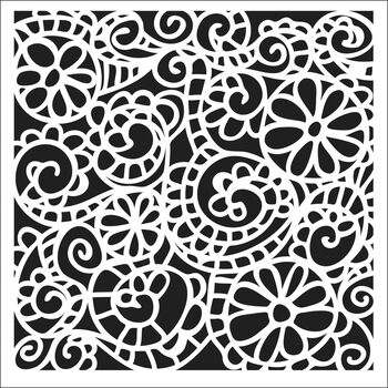 Crafter's Workshop Templates Swirly Garden 12'' x 12''
