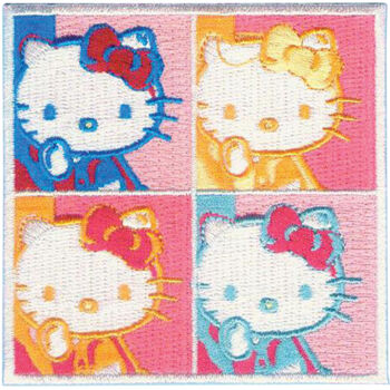 C, Visionary Hello Kitty Patches 4 Square