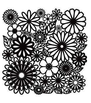 Crafter's Workshop 12''x12'' Template-Flower Frenzy