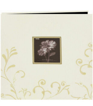 Pioneer 12''x12'' Embroidered Postbound Album-Ivory