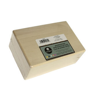 Basswood Hinged Box-8-1/4''x3-1/4''x5-3/8''/Roomy Box