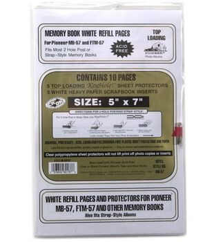 Pioneer E-Z Load 5''x7'' Refill Pages