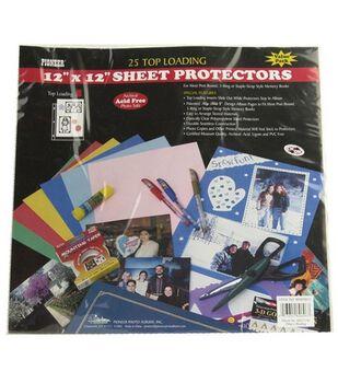 Top Load 12''x12'' Sheet Protectors-25PK