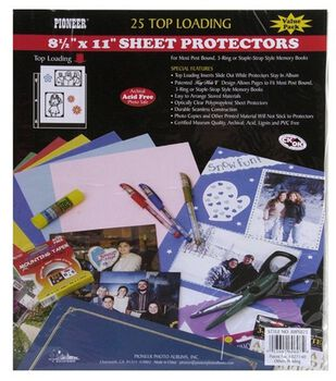 Postbound Top Loading Page Protectors-25PK/8-1/2''x11''