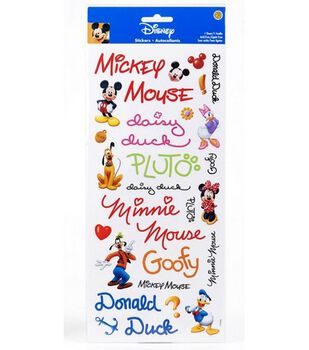 Mickey Autographs Sticker