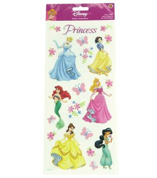 Disney Princess Stickers-Princess Dreams Glitter