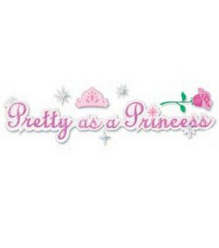 Disney Title Stickers-Pretty As A Princess