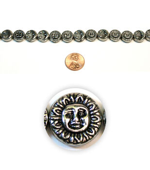 Sun and Moon Metal Beads