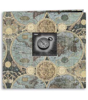 Pioneer 12''X12''  Postbound Album Travel Print W/Frame-Globes