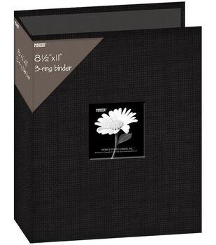 "Fabric 3-Ring Binder Album With Window 8.5""X11"""