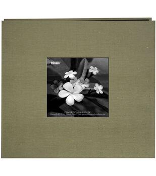 "Silk Postbound Album With Photo Window 8""X8""-Caramel"