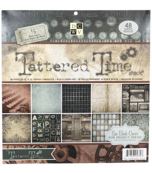 Die Cuts With A View Premium Cardstock Stack Tattered Time