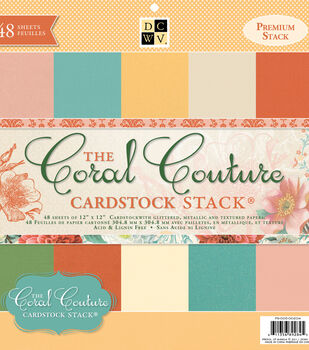 Die Cuts With A View Coral Couture Premium Cardstock Solid