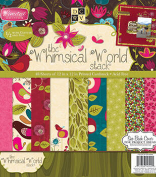 Die Cuts With A View Whimsical World Stack 12''x12''