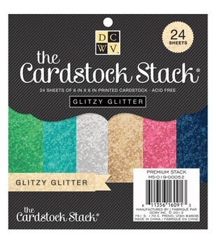 Die Cuts With A View The Glitzy Glitter Cardstock Stack
