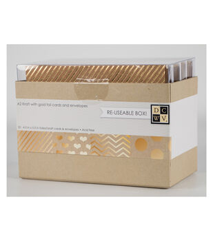 Die Cuts With A View A2 Gold Foil Accents Box Of Cards And Envelopes