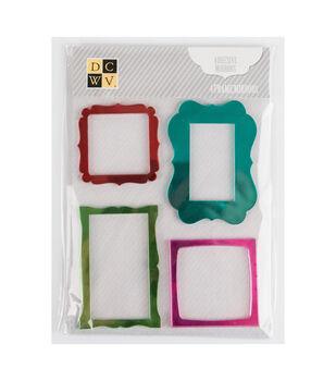 DCWV Mini Adhesive Mirrors-Colored Frames