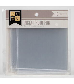 "DCWV Insta Photo Fun 4""x4"" Photo Inserts"