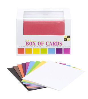 DCWV A2 Box Of Cards-50PK/Solid