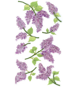 Jolee's Boutique Le Grande Dimensional Sticker-Lovely Lilacs