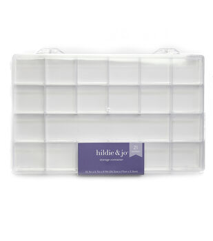 "Plastic Storage 10.5""X6.5""X.875"" 21 Compartment"