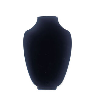 Darice 3D Velvet Necklace Stand Black 12''