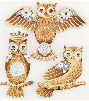 Jolee's Steampunk Sticker-Owls