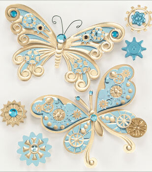 Jolee's Steampunk Sticker-Butterflies