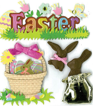 Jolee's Boutique Stickers-Easter Chocolate Bunnies