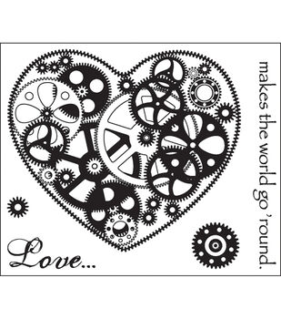 """Technique Tuesday Clear Stamps 2""""X2.5""""-Love Makes The World Go Round"""