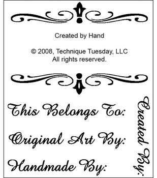"""Technique Tuesday Clear Stamps 2""""X2.5""""-Created By Hand"""