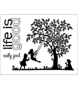 """Technique Tuesday Clear Stamps 3""""X4""""-Life Is Good"""