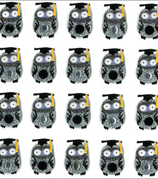 Jolee's Boutique Dimensional Mini Repeats Stickers-Graduation Owl
