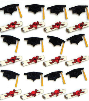 Jolee's Boutique Dimensional Mini Repeats Stickers-Graduation