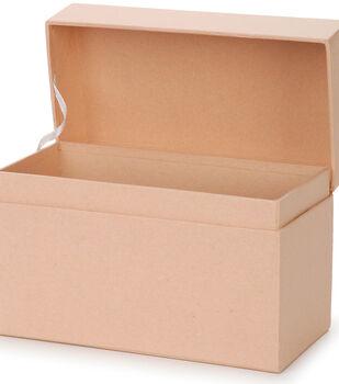 """Paper Mache Recipe Box 6.75""""X3.75""""X4.5"""""""