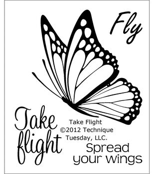 """Clear Stamps 2""""X2.5""""-Take Flight"""