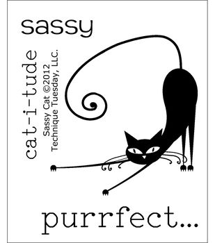 """Clear Stamps 2""""X2.5""""-Sassy Cat"""