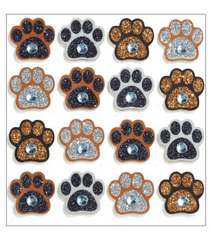 Jolee's Mini Repeats Stickers-Paw Print
