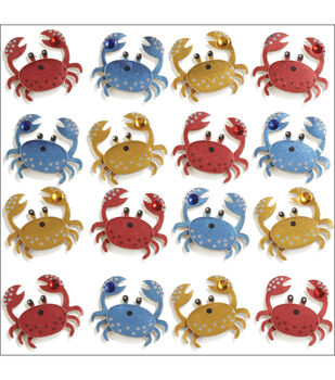 Jolee's Mini Repeats Stickers-Crab