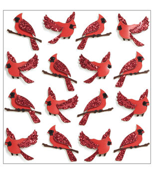 Jolee's Mini Repeats Stickers-Cardinal