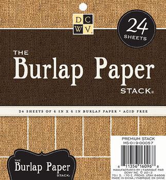 DCWV 6''x6'' Burlap Paper Stack
