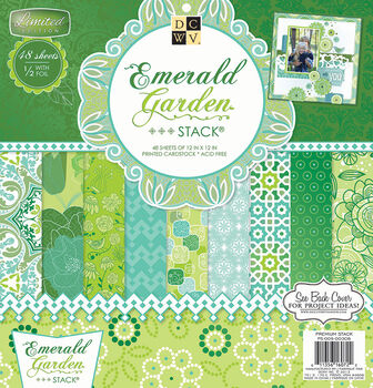 DCWV 12''x12'' Emerald Garden Stack